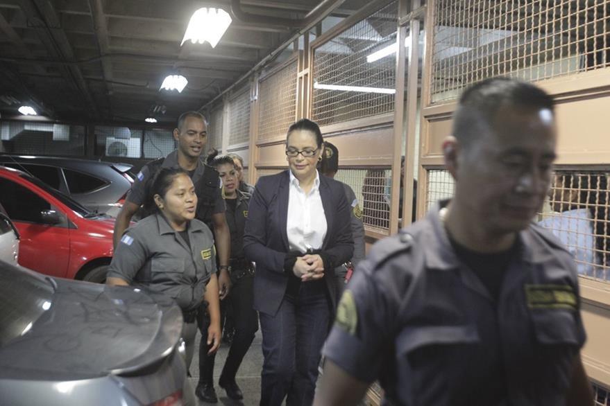 Roxana Baldetti, implicada en el caso de Cooptaci—ón del Estado. (Foto Prensa Libre: Edwin Berci‡án)