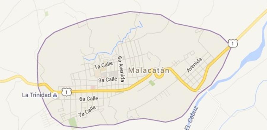 Mapa de Malacatán, San Marcos, donde ocurrió el linchamiento. (Foto Prensa Libre: Internet).