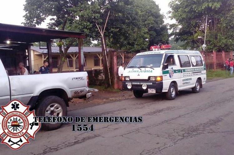 Una persona fallecida en Nuevo Chuatuj, zona 7 de Coatepéque, Quetzaltenango. (Foto Prensa Libre: CBMD)