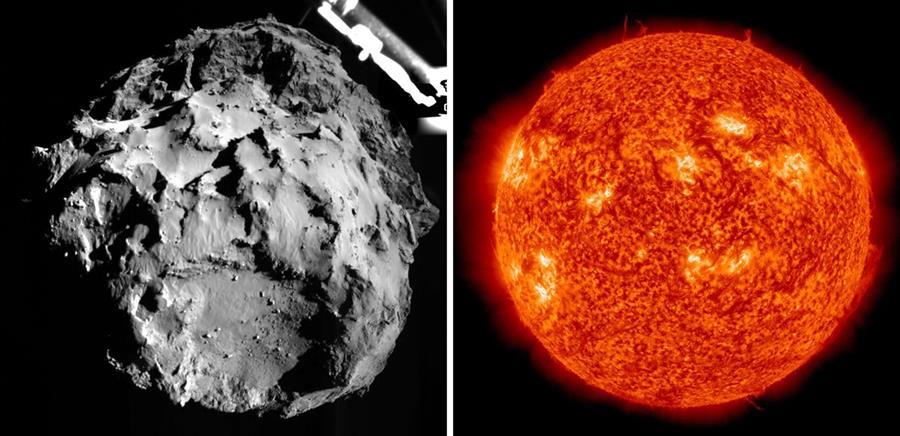 Philae pasa en estos días por el punto más cercano al sol, con lo cual está próximo a finalizar su misión. (Foto: @Philae2014).