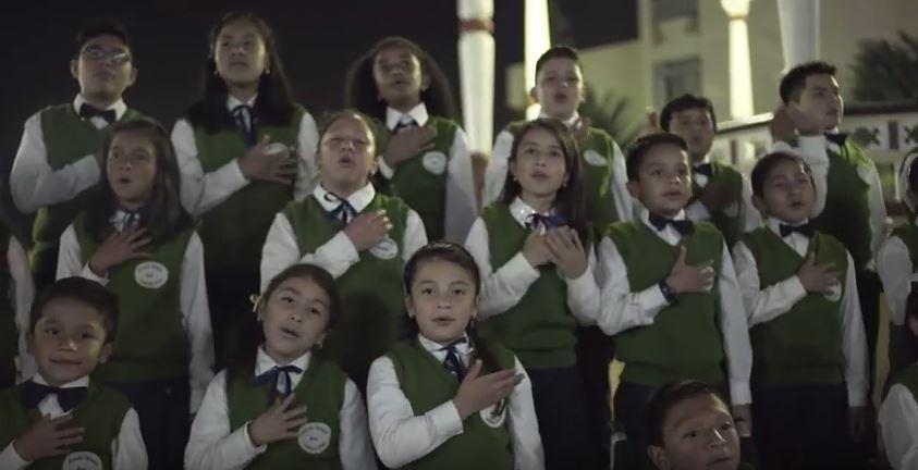 Niños participan en el coro que recuerda las bellezas de San Marcos. (Foto Prensa Libre: Hemeroteca PL)