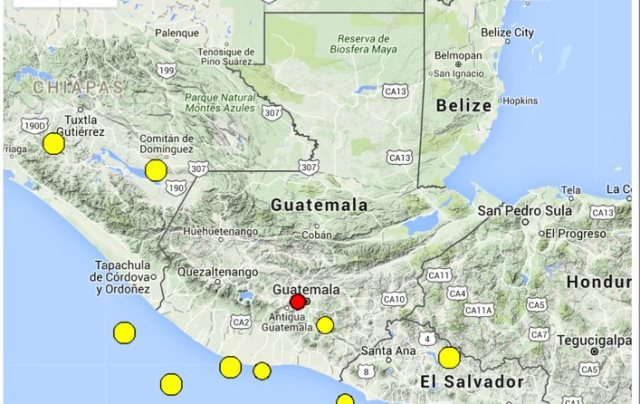 Autoridades informaron que el epicentro se registró a escasos kilómetros de la capital. (Foto Prensa Libre: Conred)
