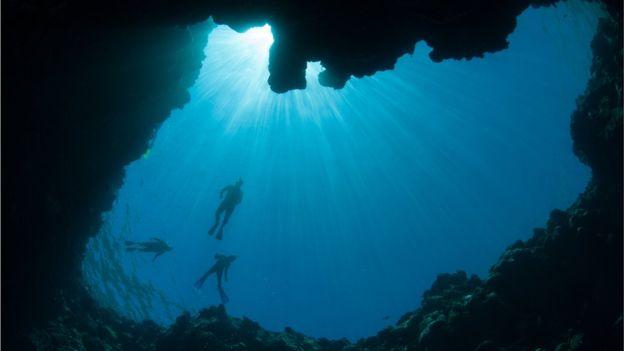 En el Caribe hay varios agujeros azules.  THINKSTOCK