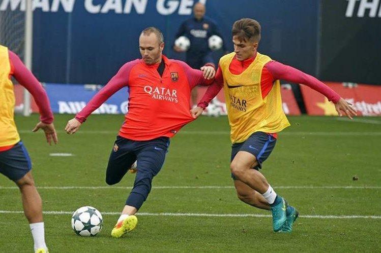 El Barcelona cumplió con su penúltimo entrenamiento previo a enfrentar al Mánchester City. (Foto Prensa Libre: FC Barcelona).