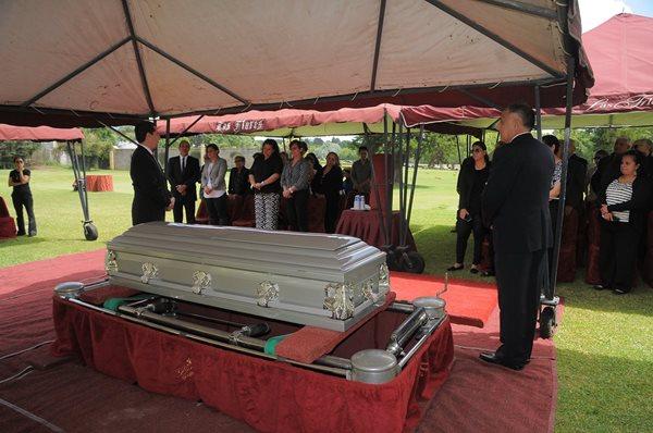 Familiares y amigos se despidieron de Blas Quaglieri, una de las grandes leyendas del ciclismo para Guatemala. (Foto Prensa Libre: Carlos Vicente)