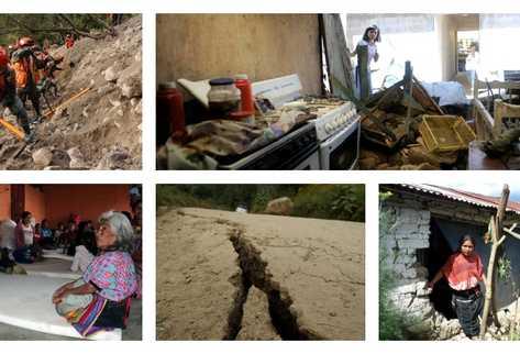 Daños provocados por terremoto registrado el pasado 7 de noviembre. (Foto: Prensa Libre)