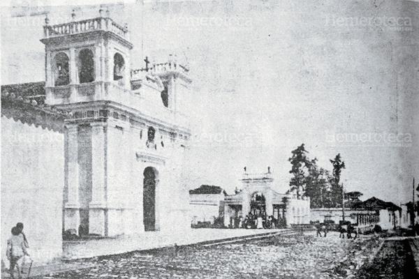 Iglesia de Candelaria en 1917