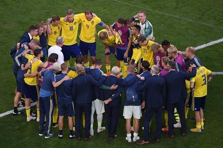 Los suecos se mostraron orgullosos por el papel desempeñado en Rusia 2018. (Foto Prensa Libre: AFP)