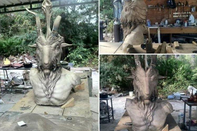 En julio del 2015 el grupo causó polémica por la develación de una estatua de Satán. (Fotos: sitios de internet).