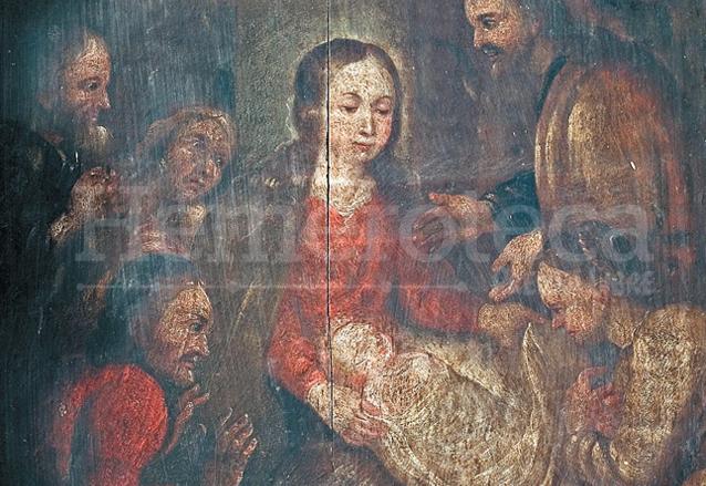 Óleo creado, posiblemente por seguidores de Andrés de la Concha, siglo XVII. Iglesia de San Juan del Obispo. (Foto: Hemeroteca PL)