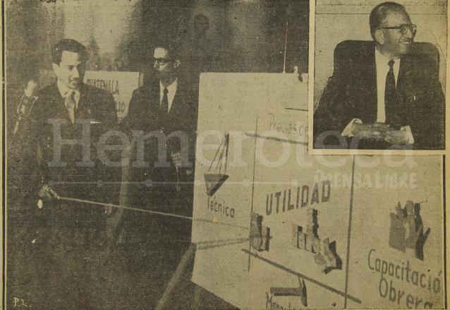 Última fotografía tomada a Castillo Armas en la reunión que sostuvo con miembros de la iniciativa privada el día de su asesinato. (Foto: Hemeroteca PL)