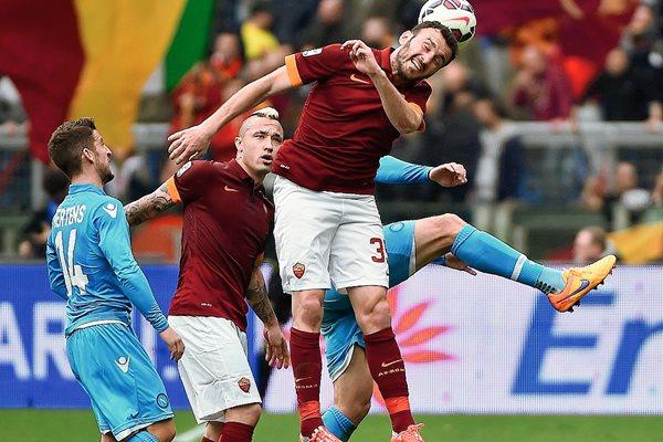 Los aficionados del AS Roma no podrán usar el sector sur del estadio el sábado. (Foto Prensa Libre: AFP)