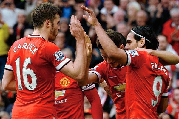 Los jugadores del Manchester United festejaron el triunfo. (Foto Prensa Libre: AFP).