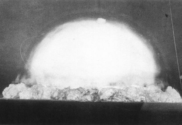 Explosión de la bomba Trinity el 16 de julio de 1945 la primera detonación de un artefacto atómico. (Foto: Hemeroteca PL)