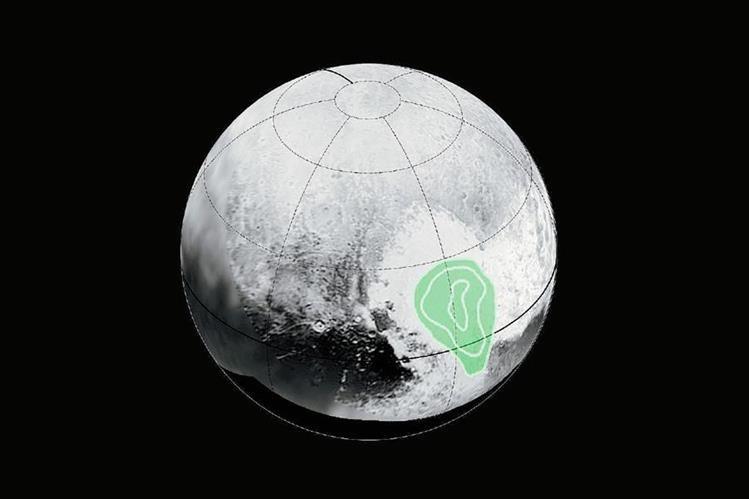 La imagen muestra la región de Plutón que tiene forma de corazón. (Foto Prensa Libre: EFE).