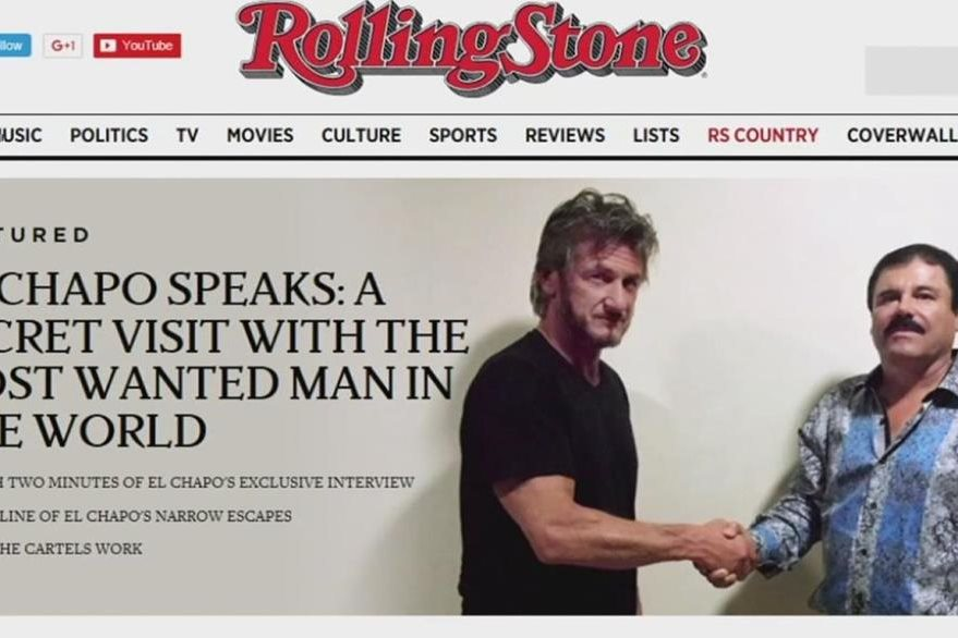 La revista Rolling Stone publicó la entrevista que Sean Penn hizo al narcotraficante. (Foto Prensa Libre: Hemeroteca PL)