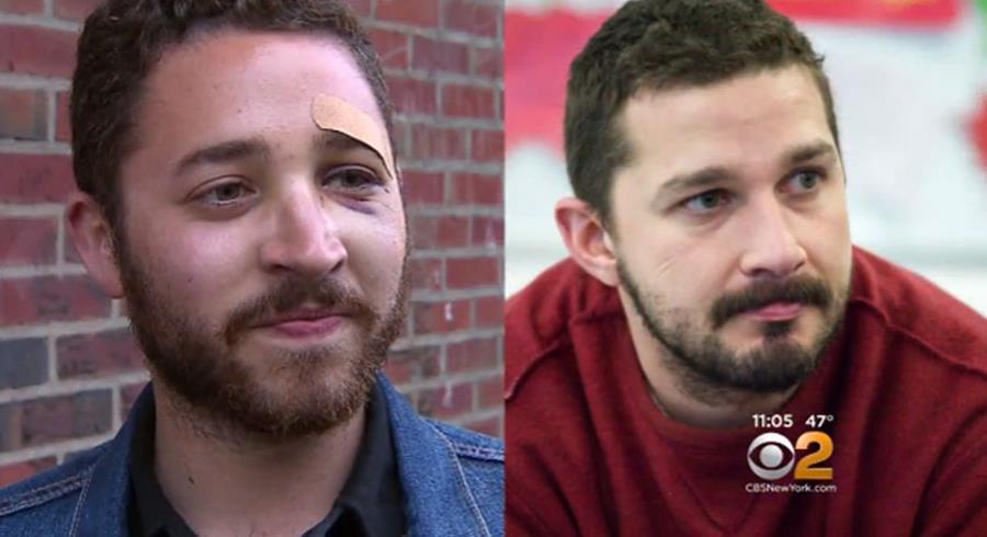 Mario Licato (izq) es confundido con el actor Shia Labeouf (der). (Foto Prensa Libre: CBS)