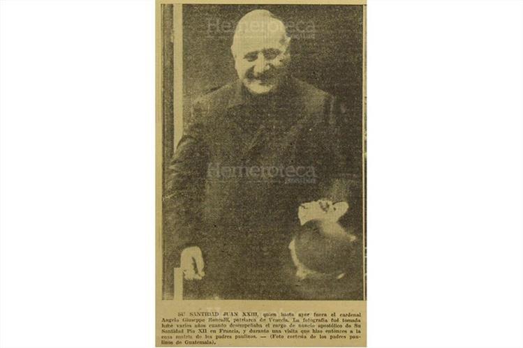 28/10/1958 Angelo Giuseppe Roncalli, patriarca de Venecia, electo papa número 262. ( Foto: Hemeroteca PL)