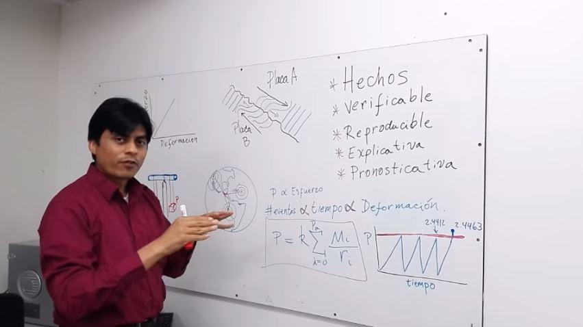 Por medio de videos divulgados en internet por Abraham Mencos, lanza pronósticos de terremoto en Guatemala. Las autoridades refieren conocerán su contenido pero que a nivel general en el mundo no existen sistemas confiables de hacer esos pronósticos. (Foto, Prensa Libre: YouTube)