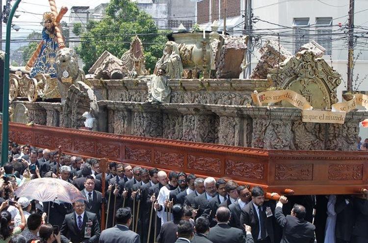 La alegoría del anda hace referencia al juicio final. (Foto Prensa Libre: Paulo Raquec)