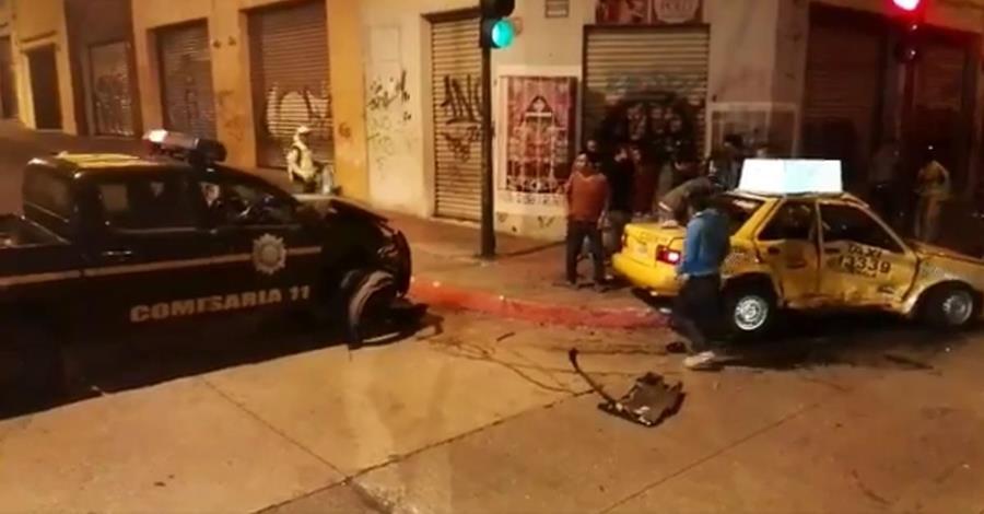 Imagen pocos instantes después de que ocurrió la colisión.