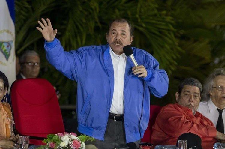 Daniel Ortega, mandatario nicaragüense. (Foto Prensa Libre: EFE)