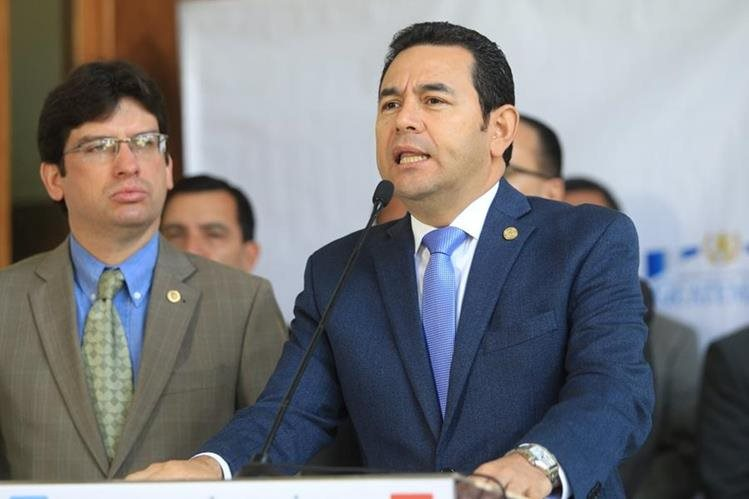 Presidente Jimmy Morales. (Foto Prensa Libre: Hemeroteca PL)