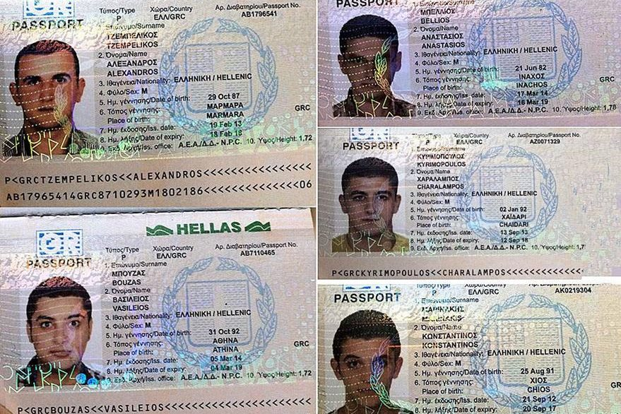 Los cinco sirios con documentación falsa interceptados en Honduras en el 2015.