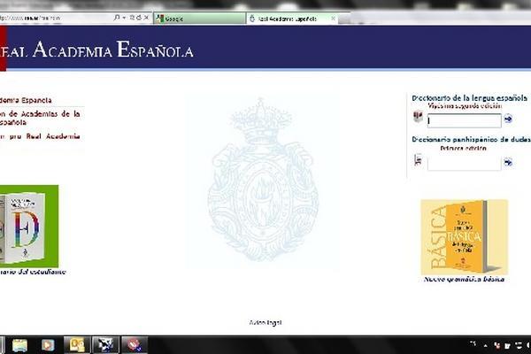 Vista de la página de la Real Academia Española