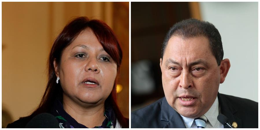 Eunice Mendizabal y Mauricio López Bonilla, extitulares del Interior. Contraloría suma 23 pesquisas en Gobernación. (Foto Prensa Libre: Hemeroteca PL)