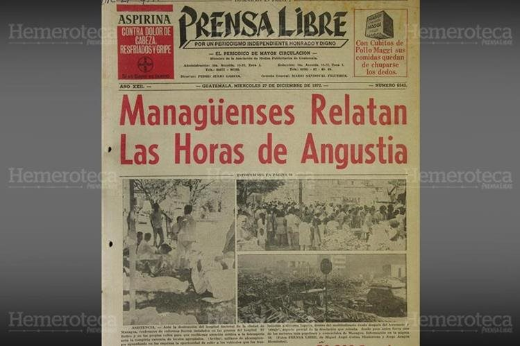 Terremoto que afectó Managua, Nicaragua en 1972. (Foto: Hemeroteca PL)