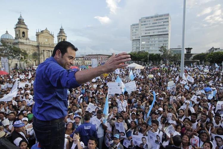 El presidente Morales ganó la Presidencia de Guatemala el 25 de octubre de 2015.