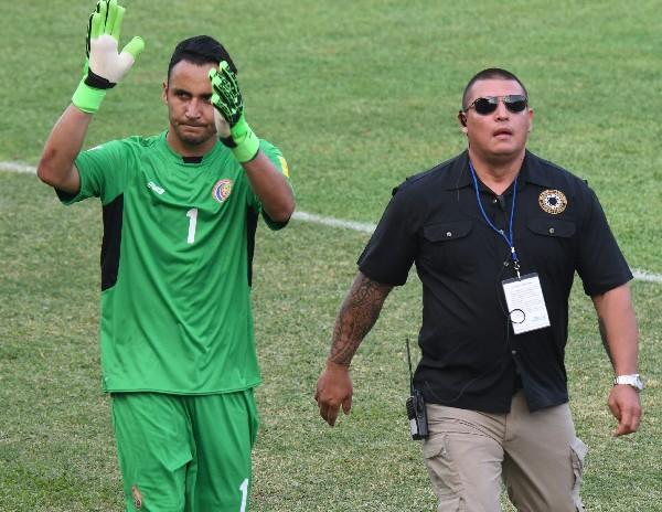 Kyelor Navas fue criticado por unos de los goles que recibió Costa Rica contra México. (Foto Prensa Libre: AFP).