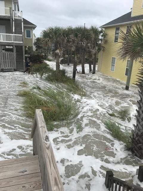 Un área inundada en Wilmington. (Foto: Cortesía)