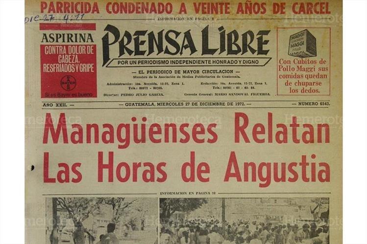 Managua, Nicaragua, quedó devastada por el terremoto del 23/12/1972. (Foto: Hemeroteca PL)