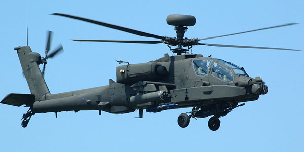 Helicóptero participaba en un operativo. (Foto referencial - del sitio teleamazonas.com)