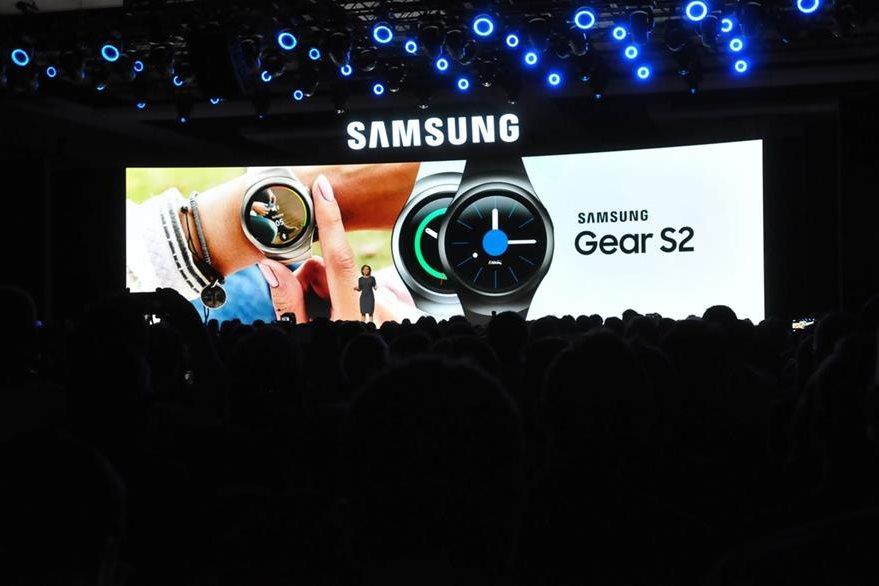 Los relojes inteligentes de Samsung, destacan en el CES 2016. (Foto Prensa Libre: Ana Lucía Ola)