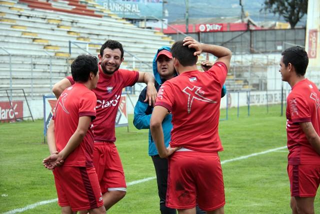 El cuadro quetzalteco está motivado y espera mantener el liderato. (Foto Prensa Libre: Carlos Ventura)
