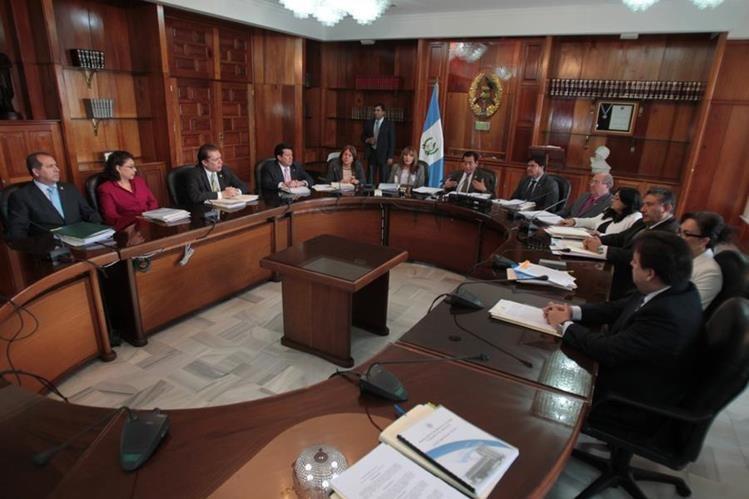 Josué Felipe Baquiax deja la presidenca de la CSJ luego de unos 10 meses de gestión. (Foto Prensa Libre: Hemeroteca PL)