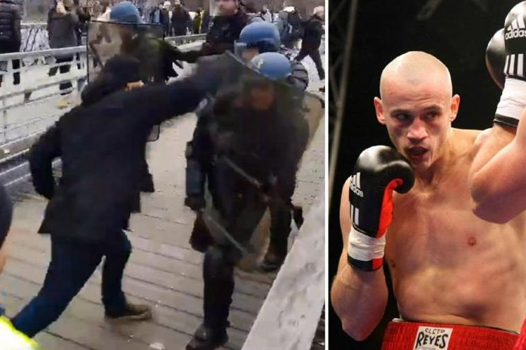 Christophe Dittinger, a former boxer who attacked the riot police in France during the protest of the Yellow West. (Free Press Photo: Networks)
