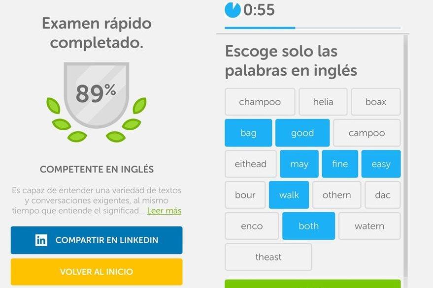 Duolingo presenta una alternativa que permite evaluar con precisión la fluidez del idioma inglés en línea y de forma gratuita. (Foto Prensa Libre: Duolingo)