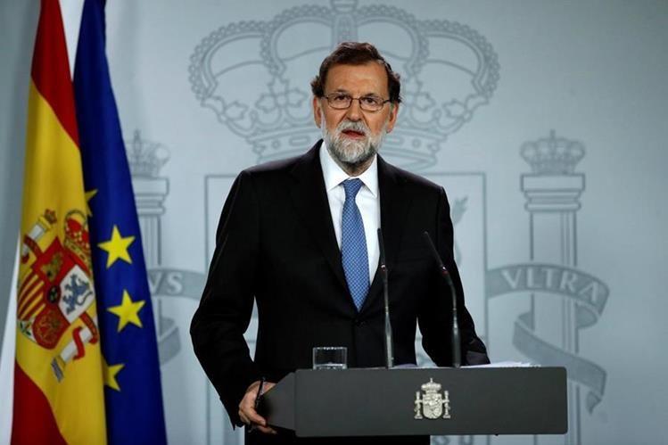 """Mariano Rajoy anunció las primeras medidas contra la """"escalada de desobediencia"""" en Cataluña. (Foto Prensa Libre:EFE)."""