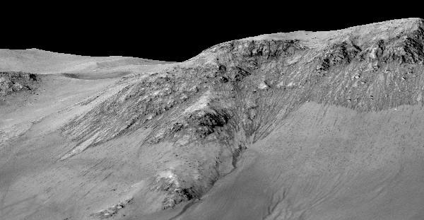 Fotografía de la Nasa muestra un área de la superficie de Marte.(Foto Prensa Libre:EFE)