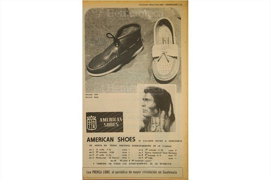 American Shoes era una marca emblemática de la década de 1980. Anuncio del 19 de marzo de 1983. (Foto: Hemeroteca PL)