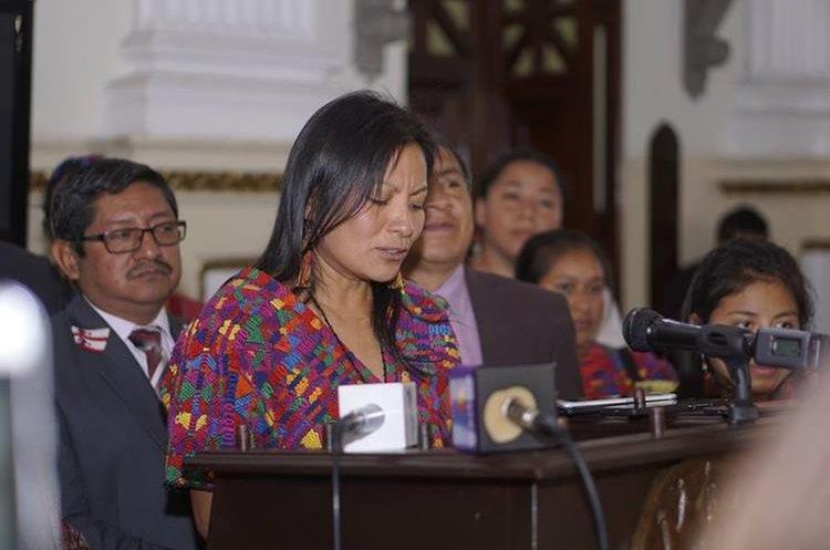 Angelican Aspuac, miembro de la Afedes. (Foto Prensa Libre: Cortesía)