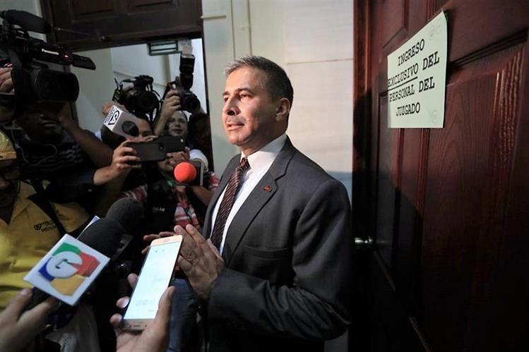 Érick Melgar Padilla, el 21 de febrero, cuando se entregó ante el Juzgado de Mayor Riesgo A. (Foto Prensa Libre: Hemeroteca PL)