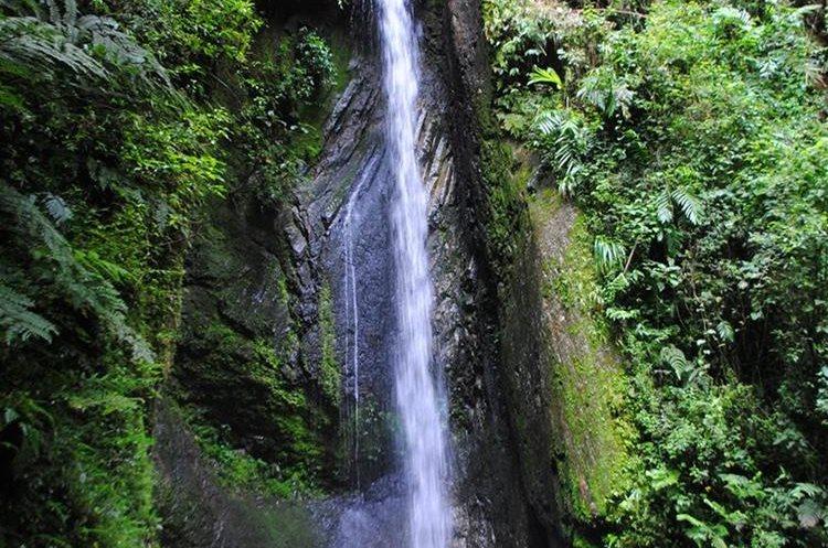 """La cascada Las Golondrinas dan un toque encantador al lugar.&nbsp;<span style=""""font-family: arial, sans-serif; font-size: 12.8px; text-align: justify;"""">PRENSA LIBRE/ MARIO MORALES</span>"""