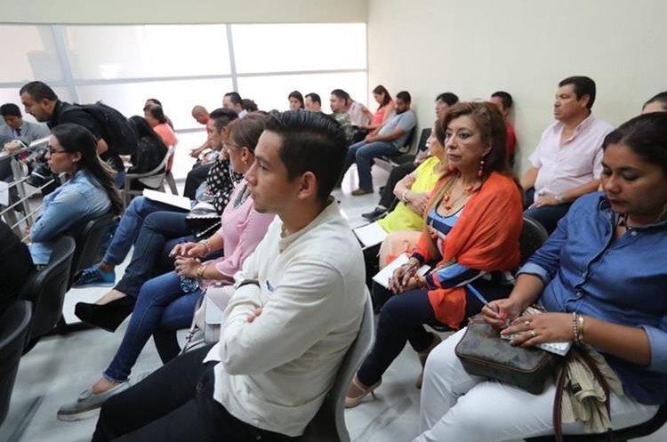 José Manuel Morales, hijo del presidente Jimmy Morales, durante el juicio del Caso Botín Registro de la Propiedad. (Foto Prensa Libre: Erick Ávila)