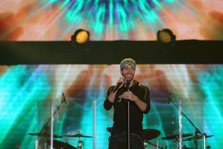 El intérprete presentó en el país su gira Sex and Love. (Foto Prensa Libre: Keneth Cruz)