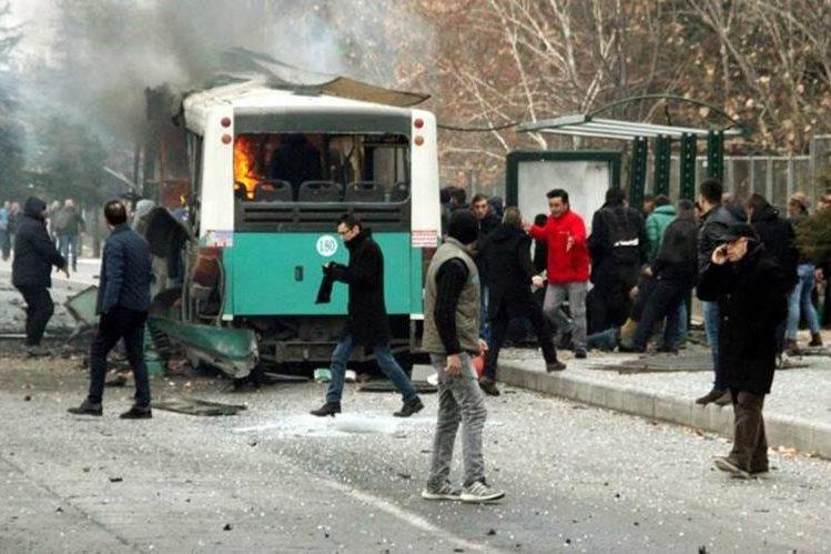 El atentado ocurrió en el centro de Turquía. (Foto Prensa Libre: EFE)